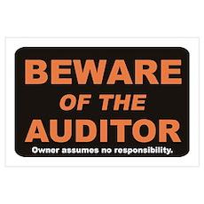 Beware / Auditor Wall Art Poster