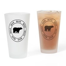 Classic Bear Drinking Glass