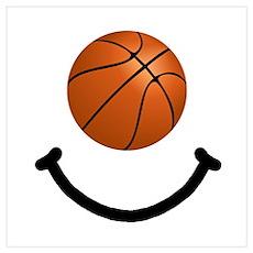 Basketball Smile Wall Art Poster