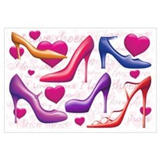 I Love Shoes Wall Art Poster