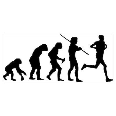 Running Evolution Wall Art Poster