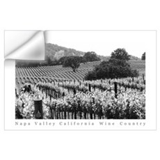 Napa Valley Vineyard Black + White Poster Wall Decal