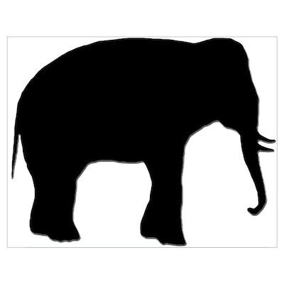 ELEPHANTS EVERYWHERE Wall Art Poster
