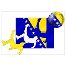 Bosnia Soccer Football Wall Art