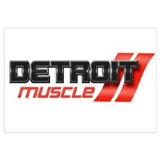 DETROIT MUSCLE Wall Art Canvas Art