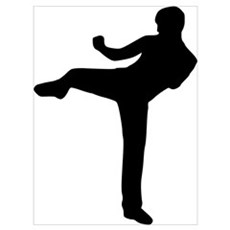 Kickboxing Wall Art Poster