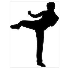 Kickboxing Wall Art Poster