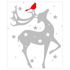 Winter Reindeer Wall Art Poster