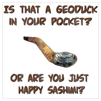 Geoduck or Sashimi Wall Art Poster
