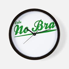 Erin No Bra Wall Clock
