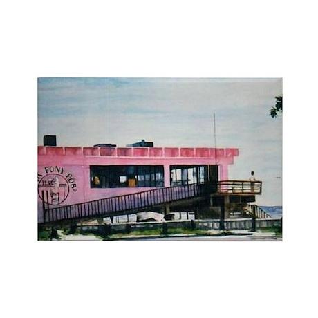 Pink Pony Pub Art Rectangle Magnet (10 pack)