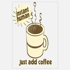 Funny Retro Coffee Humor Wall Art