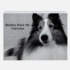 Shelties Rock My Universe Wall Calendar