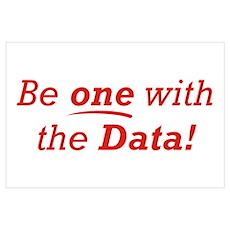 One / Data Wall Art Poster