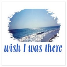 Beach/Ocean Wish I Was There Wall Art Framed Print