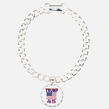 TRUMP 45 Charm Bracelet, One Charm