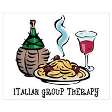 Italian Group Therapy Wall Art Poster