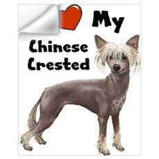 I Love My Chinese Crested Wall Art Wall Decal