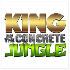 King Of The Concrete Jungle Wall Art Canvas Art