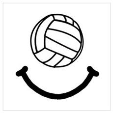 Volleyball Smile Wall Art Poster