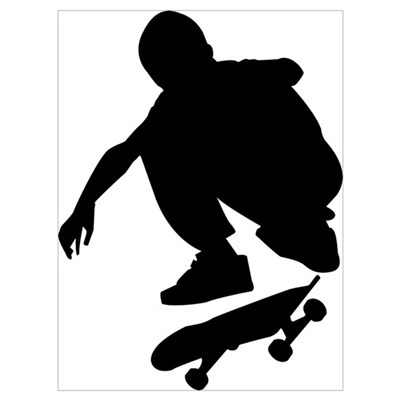 Skate On Wall Art Poster