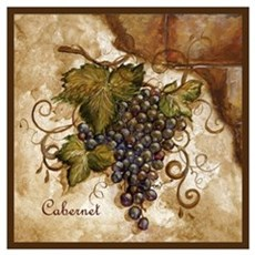 Best Seller Grape Wall Art Framed Print