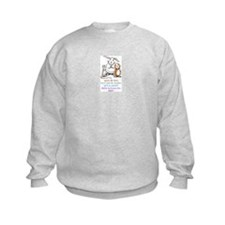 Kids Grey Sweatshirt Front and Back Imprint