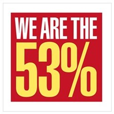 We Are The 53% Wall Art Poster