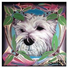 West Highland Terrier Wall Art Poster