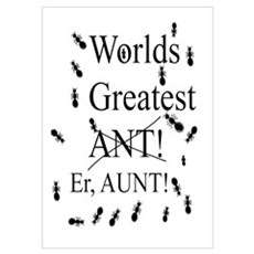 Worlds Greatest ANT! er Aunt! Wall Art Poster