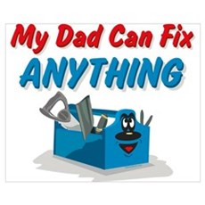 Fix Anything Dad Wall Art Framed Print