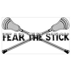 Lacrosse Fear the Stick Wall Art Poster