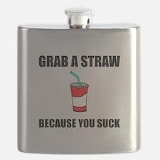 Grab Straw You Suck Flask