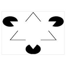 Kanizsa Triangle Wall Art