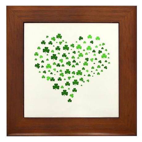 Shamrock Heart Framed Tile
