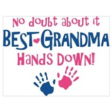 Hands Down Best Grandma Wall Art Framed Print