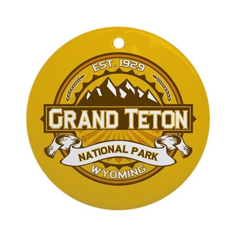 Grand Teton Goldenrod Ornament (Round)