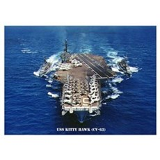 USS KITTY HAWK Wall Art Poster