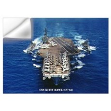 USS KITTY HAWK Wall Art Wall Decal