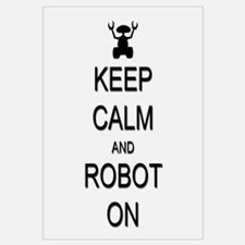 Keep Calm and Robot On Wall Art