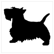 SCOTTY DOG Wall Art Poster