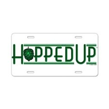 Hopped Up Aluminum License Plate