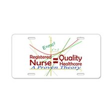Quality RN Care Aluminum License Plate
