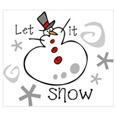 Let It Snow 2 Wall Art Poster