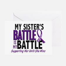 My Battle Too Pancreatic Cancer Greeting Card