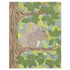 Grey Squirrel Wall Art Poster