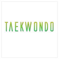 Taekwondo Gradient Wall Art Poster