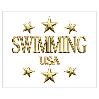 USA Swimming Wall Art Poster