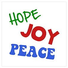 Hope Joy Peace Wall Art Poster