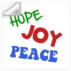 Hope Joy Peace Wall Art Wall Decal
